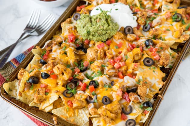 Sheet Pan Chicken Nachos Photo