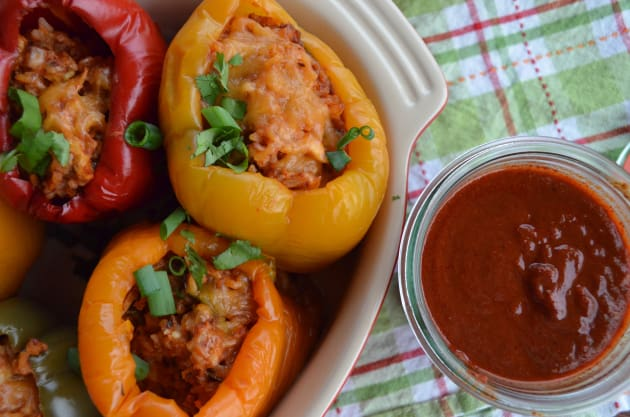 Slow Cooker Stuffed Peppers Picture