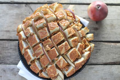 Brie, Pear & Walnut Pull Apart Bread