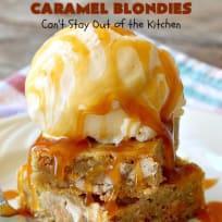 Caramel Blondies