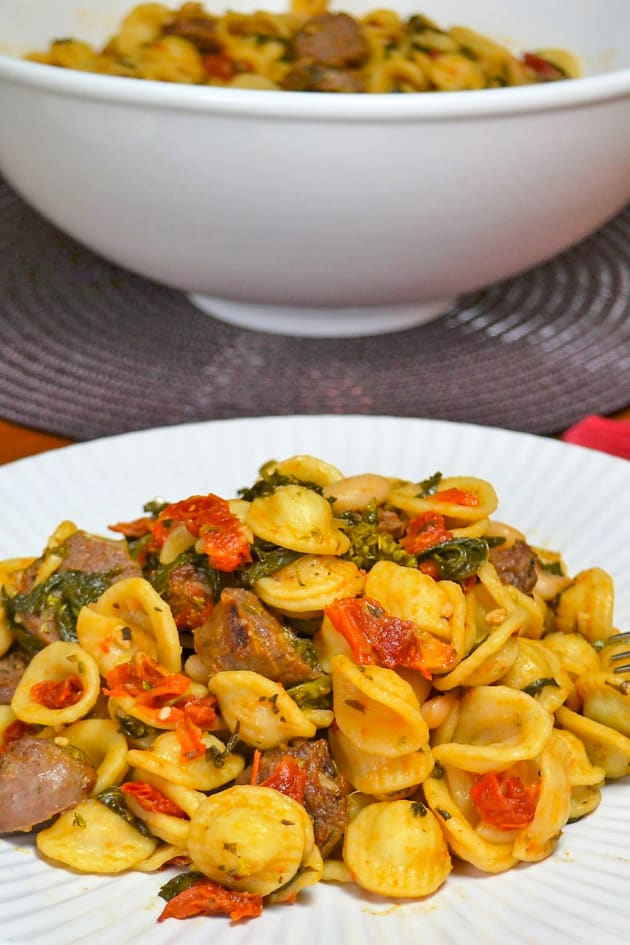 Italian Sausage Pasta with White Beans Picture