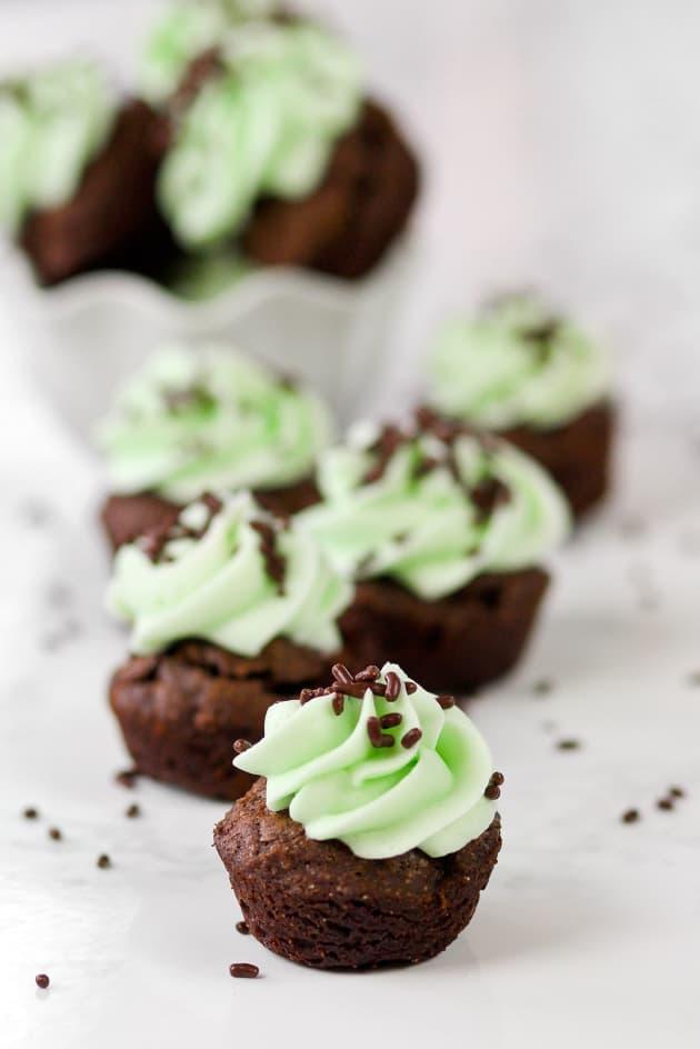 Mint Chocolate Brownie Bites Image