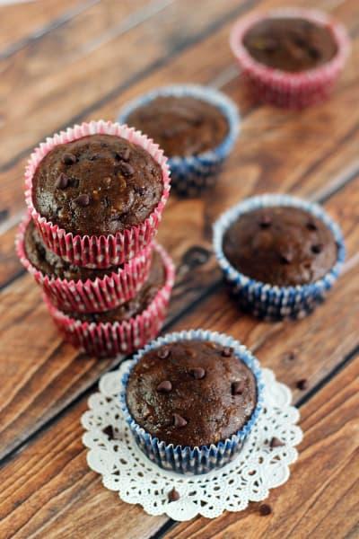 Chocolate Zucchini Muffins Image