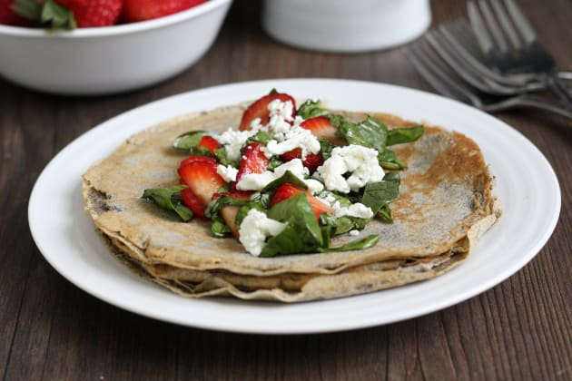 Strawberry Spinach Buckwheat Crepes Picture