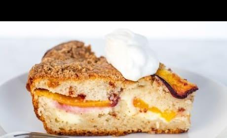 How to Make Peaches and Cream Coffee Cake