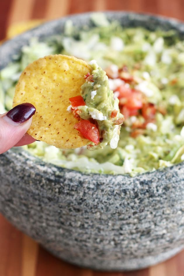 BLT Goat Cheese Guacamole Pic
