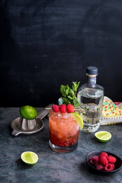 Raspberry Mint Tequila Smash Image