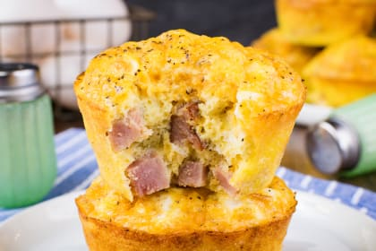 Baked Ham and Cheese Egg Muffins Recipe