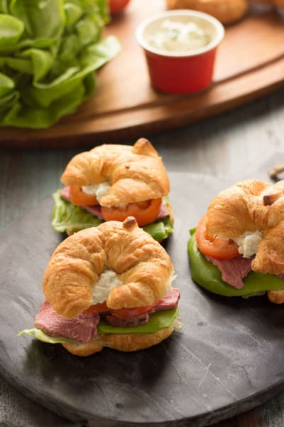 Roast Beef Croissant Sandwiches Picture