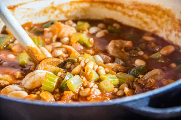Simmering Jambalaya Photo
