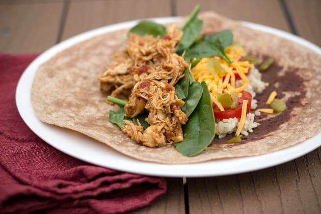 Healthy Chicken Burritos Photo