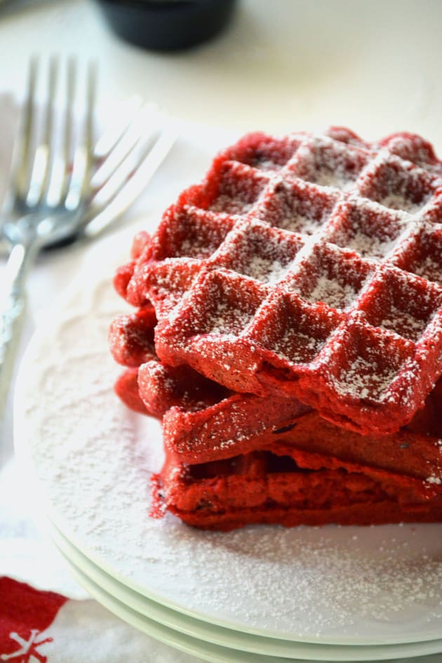 Red Velvet Waffles Food Network