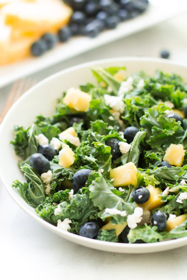 Kale Blueberry Pineapple Salad Picture