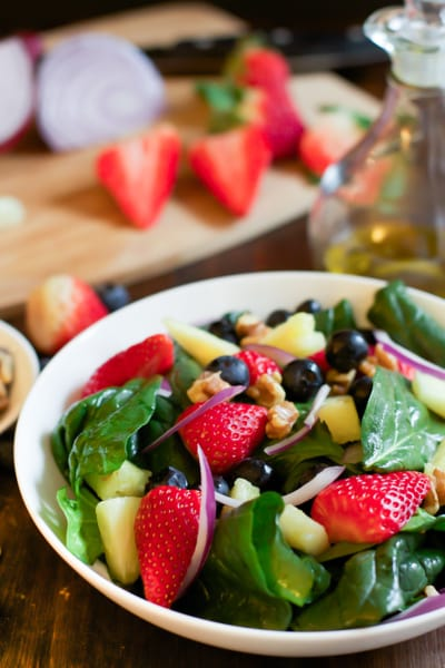 Spinach Fruit Salad Picture