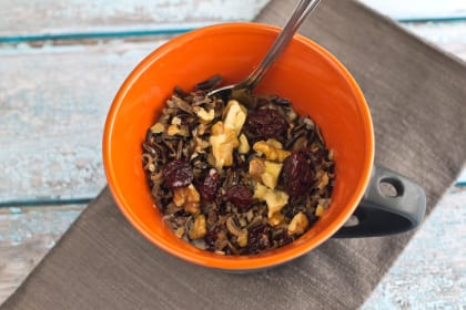 Wild Rice Porridge: Whole Grain Gluten Free Breakfast Satisfaction