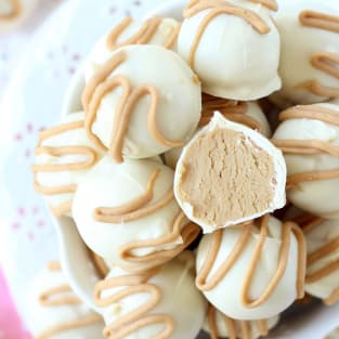 White chocolate buckeyes photo