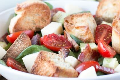 Avocado Caprese Panzanella Salad