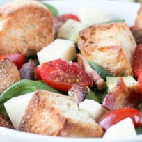 Avocado Caprese Panzanella Salad Recipe