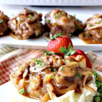 Smothered Salisbury Steak with Mushroom Onion Gravy