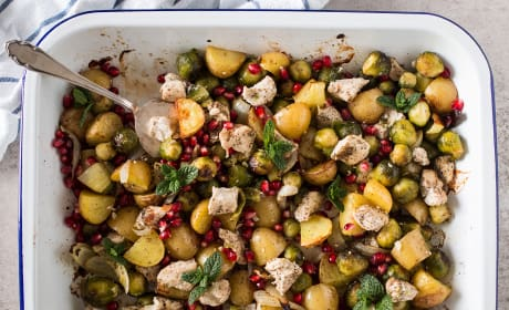 Chicken, Potato and Brussels Sprout Sheet Pan Dinner Recipe