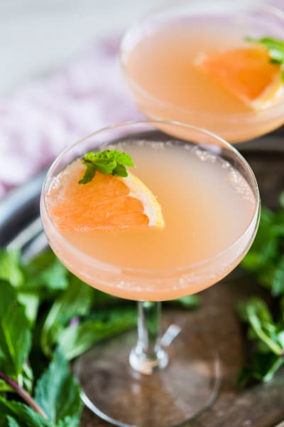 Grapefruit Campari Rose Water Cocktail Picture