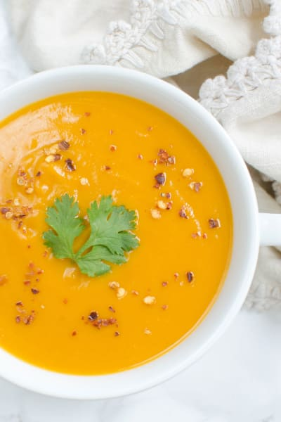 Paleo Coconut Curry Butternut Squash Soup Image