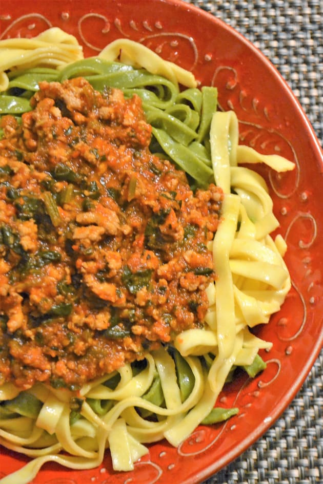 Easy Bolognese Sauce with Spinach Image