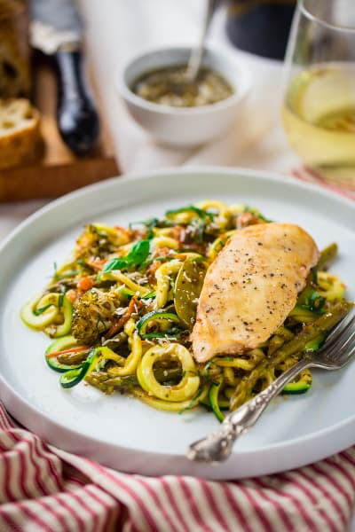 Slow Cooker Italian Chicken with Zucchini Noodles Pic