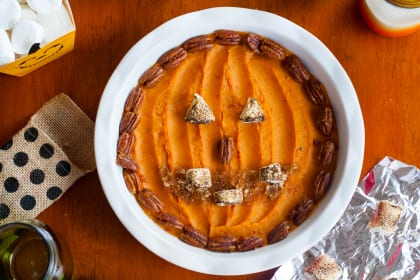 Sweet Potato Jack O' Lantern