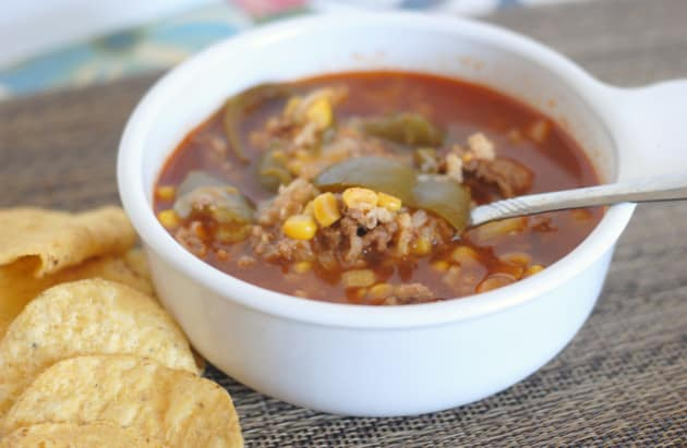 Slow Cooker Stuffed Pepper Soup Photo