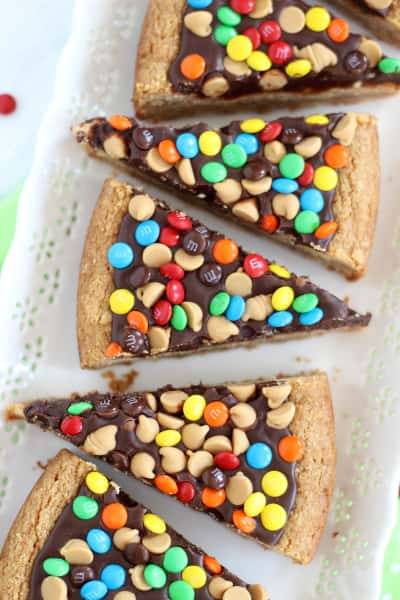 Chocolate Peanut Butter Cookie Pizza Image