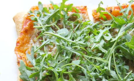 Puff Pastry Sausage and Arugula Pizza Image