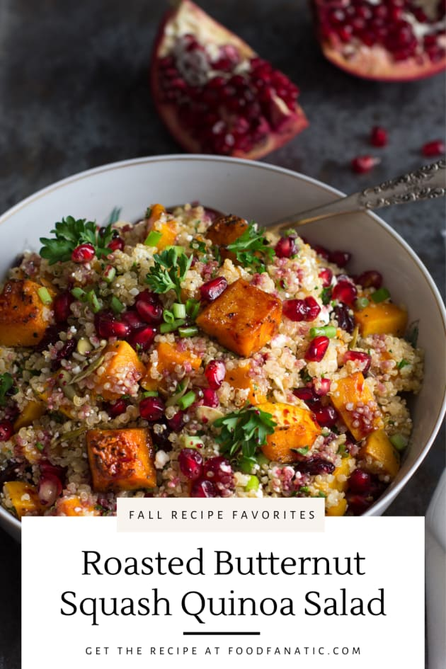 Roasted Butternut Squash Quinoa Salad Recipe Pic