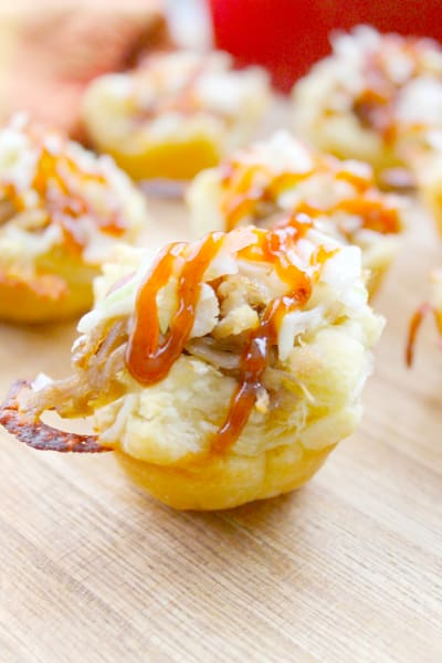 BBQ Shredded Pork Cups with Cheese Pic