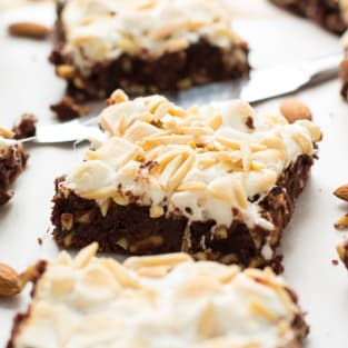Rocky road brownies photo