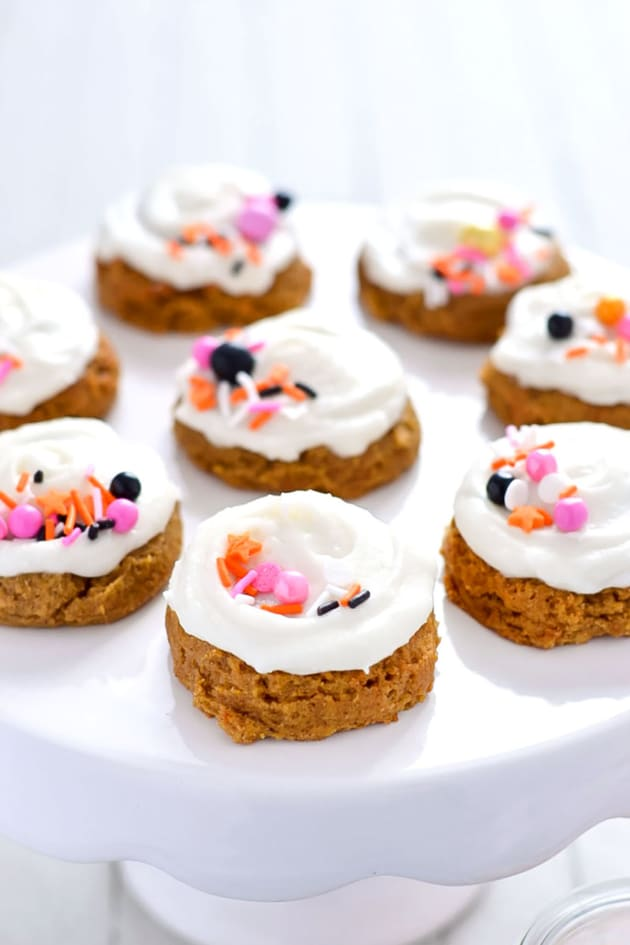 Gluten Free Pumpkin Cookies with Cream Cheese Frosting Image
