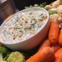 Hazelnut Spinach Greek Yogurt Dip
