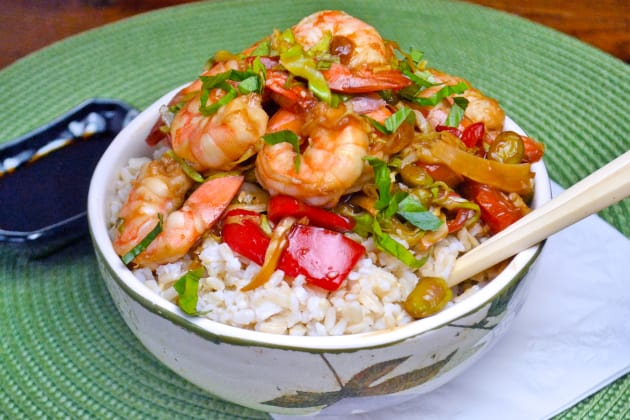 Asian Shrimp Rice Bowls Pic