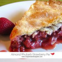 Almond Strawberry Rhubarb Pie