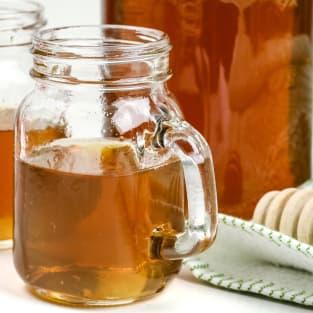 Homemade honey whiskey photo