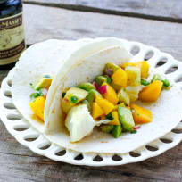 Fish Tacos with Tropical Vanilla Salsa Recipe