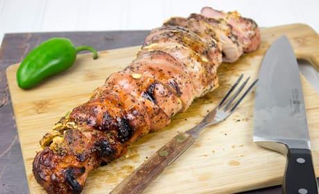 Bacon Stuffed Pork Tenderloin Recipe