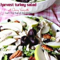 Harvest Turkey Salad with Cherry Vinaigrette