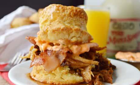 Pulled Pork Breakfast Biscuits Recipe