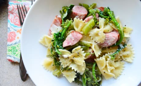 Broccoli Pasta with Kielbasa Recipe