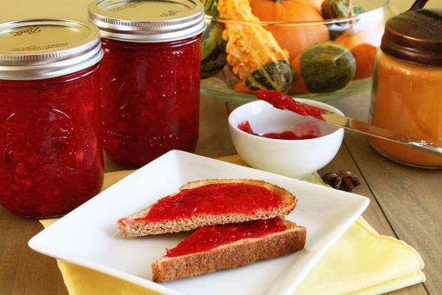 Cranberry Sauce on Bread