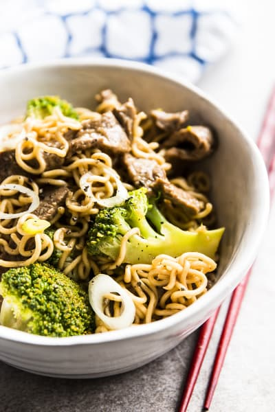30 Minute Beef and Broccoli Ramen Pic