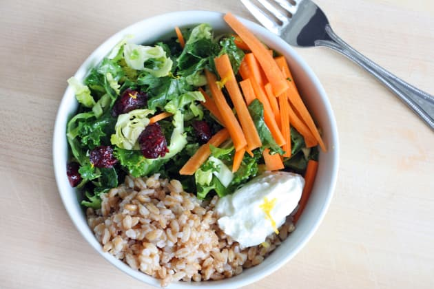 Shaved Brussels Sprout Grain Bowl Photo