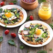Baked Egg Tostadas Recipe