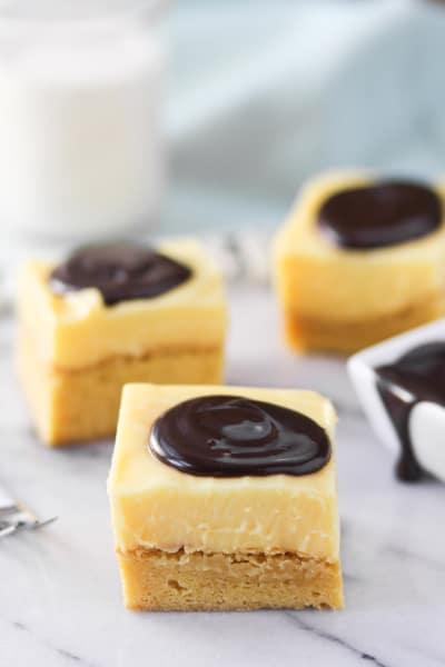 Boston Cream Pie Bars Image